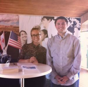 International Week på Aarhus Universitet sammen med vores amerikanske Fulbrighter 2014/2015, Nate Ober